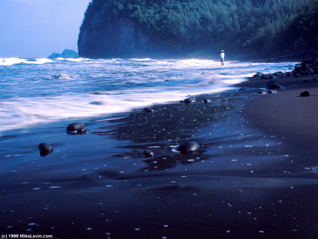 Mike levin 39 s photo gallery hawaii photos Black sand beach hawaii
